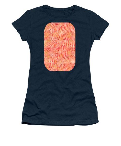 Orange Zebra Print Women's T-Shirt