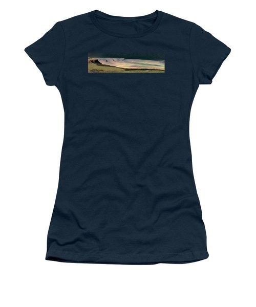 Women's T-Shirt (Junior Cut) featuring the photograph Oregon Canyon Mountain Layers by Leland D Howard