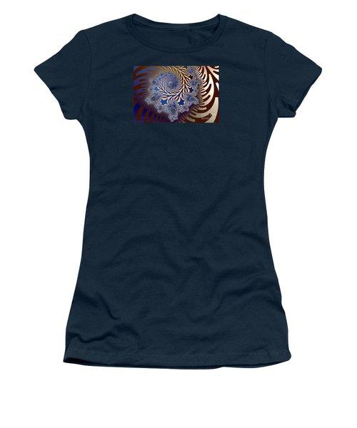 Women's T-Shirt (Junior Cut) featuring the digital art Ornamental by Karin Kuhlmann