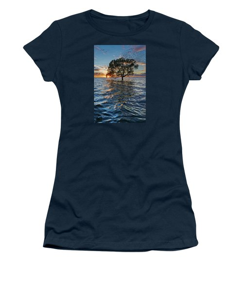 Out At Sea Women's T-Shirt (Junior Cut) by Robert Charity