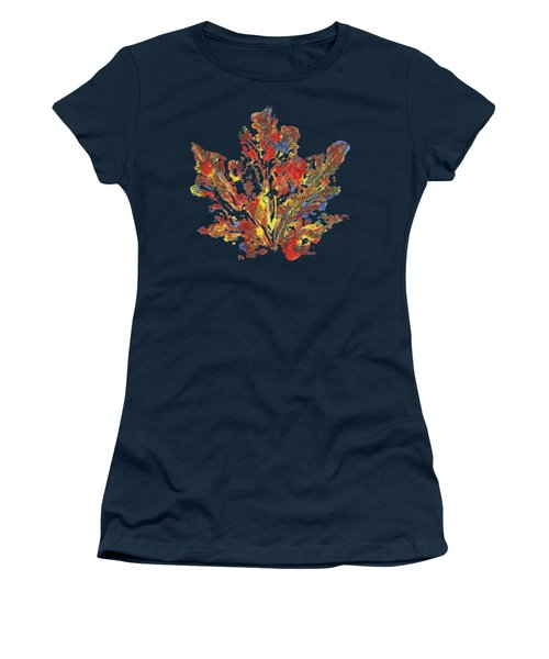 Women's T-Shirt (Junior Cut) featuring the painting Painted Nature 1 by Sami Tiainen