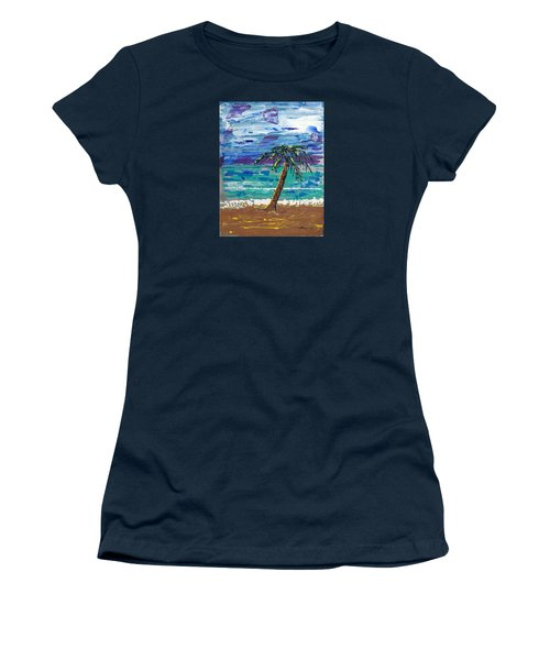 Women's T-Shirt (Junior Cut) featuring the painting Palm Beach by J R Seymour
