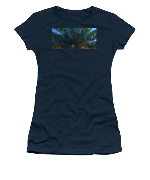 Palm Tree In The Sun Women's T-Shirt (Athletic Fit)