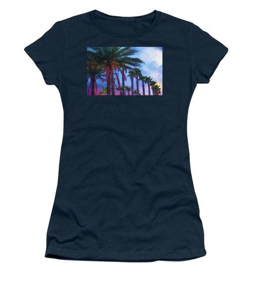 Palm Trees 3 Women's T-Shirt (Junior Cut) by Glenn Gemmell