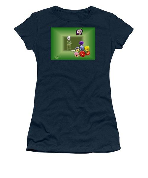 Pansies  Women's T-Shirt (Athletic Fit)