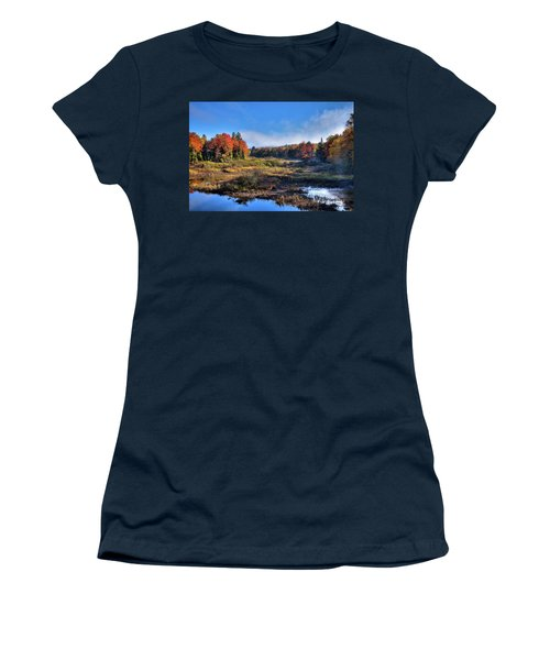 Women's T-Shirt (Junior Cut) featuring the photograph Patches Of Fog At The Green Bridge by David Patterson