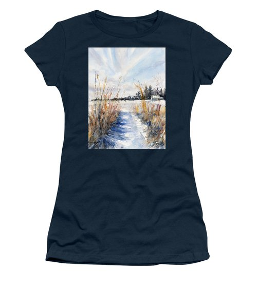 Path Shadows In The Way Back Women's T-Shirt (Junior Cut) by Judith Levins