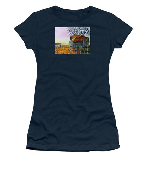 Women's T-Shirt (Junior Cut) featuring the painting Path To The Past by Jack G Brauer