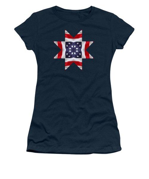 Patriotic Star 2 - Transparent Background Women's T-Shirt (Junior Cut) by Jeff Kolker