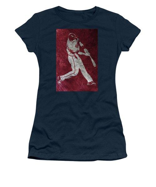 Paul Goldschmidt Arizona Diamondbacks Art Women's T-Shirt (Junior Cut) by Joe Hamilton