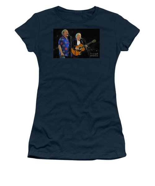 Paul Simon And Art Garfunkel Digital Painting Women's T-Shirt