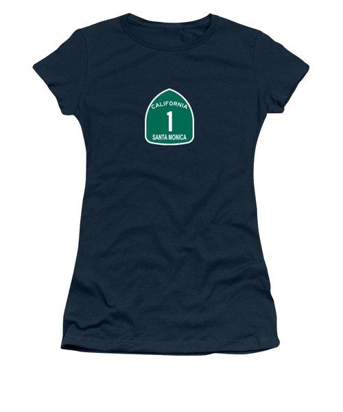 Pch 1 Santa Monica Women's T-Shirt (Athletic Fit)