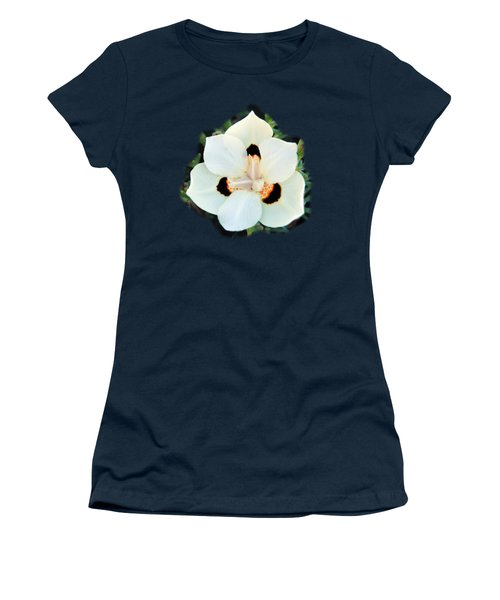 Peacock Flower T-shirt Women's T-Shirt (Junior Cut) by Isam Awad