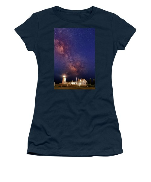 Pemaquid Point Lighthouse And The Milky Way Women's T-Shirt