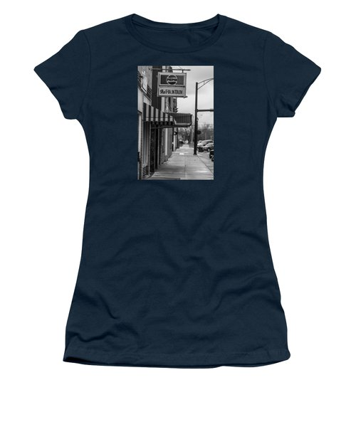 Pepsi The Fountain Sign Women's T-Shirt (Junior Cut) by John McGraw