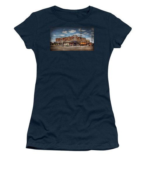 Women's T-Shirt (Athletic Fit) featuring the photograph Pharmacy - The Corner Drugstore 1910 by Mike Savad