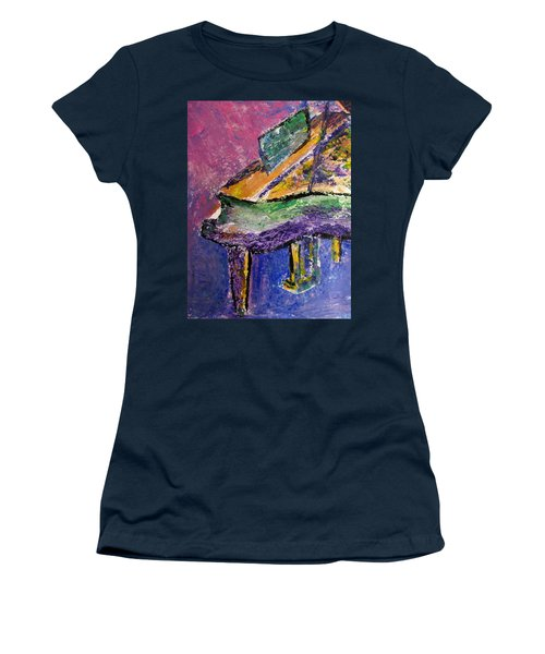 Piano Purple - Cropped Women's T-Shirt