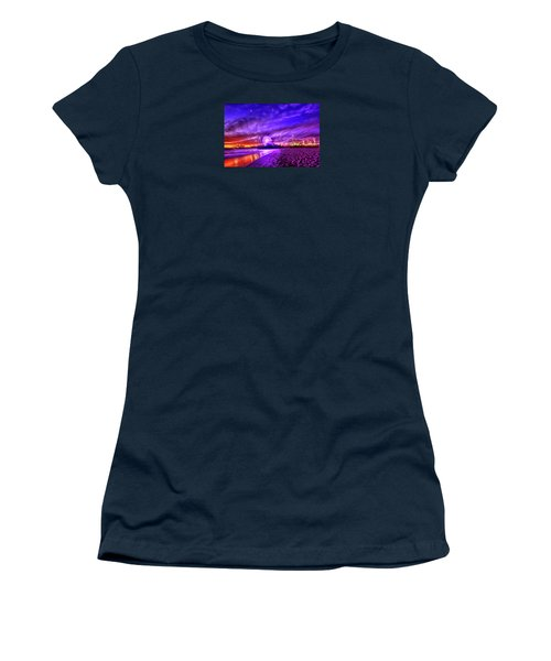 Pier Of Lights Women's T-Shirt (Athletic Fit)