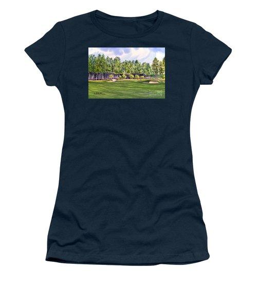 Pinehurst Golf Course 17th Hole Women's T-Shirt (Junior Cut) by Bill Holkham