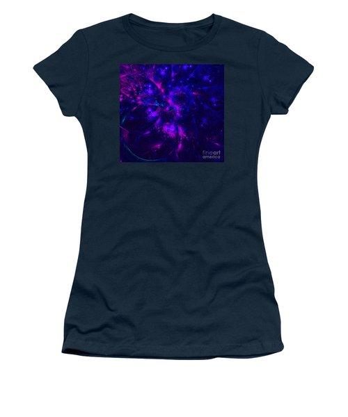 Pink And Blue Moss Fractal Women's T-Shirt