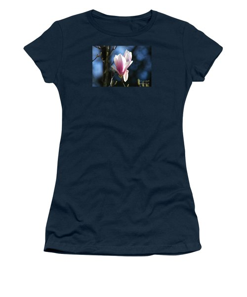 Pink Magnolia 20120402_129a Women's T-Shirt (Junior Cut) by Tina Hopkins