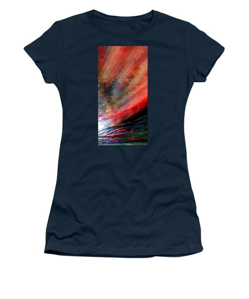 Women's T-Shirt (Junior Cut) featuring the digital art Pittura Digital Ghibill25e by Sheila Mcdonald