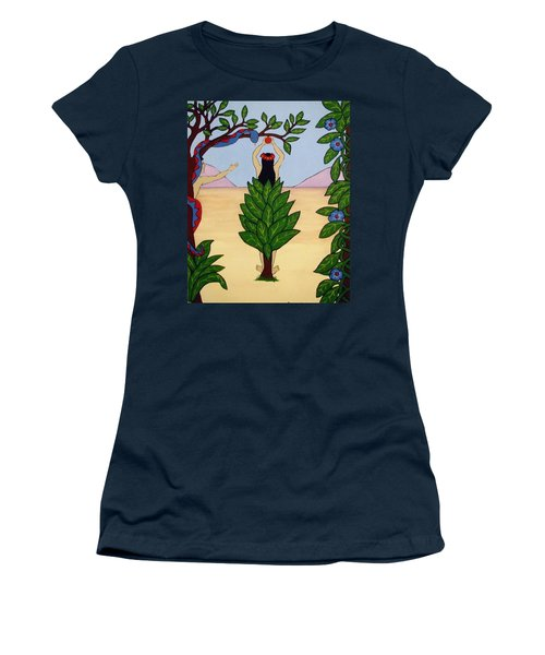 Women's T-Shirt (Junior Cut) featuring the painting Please Don't Pick That Apple by Stephanie Moore