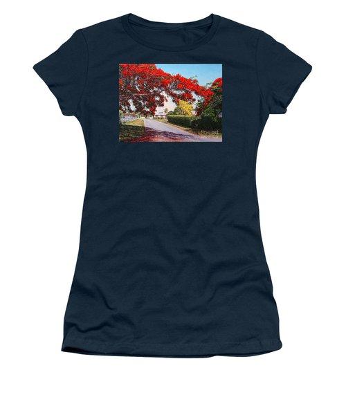 Poinciana Shadows Women's T-Shirt