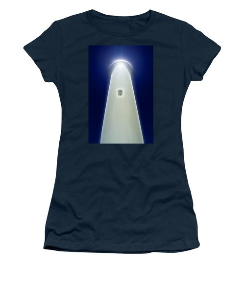 Women's T-Shirt (Junior Cut) featuring the digital art Point Arena Lighthouse by Holly Ethan