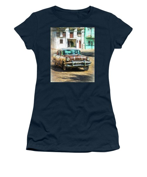 Women's T-Shirt featuring the photograph Pontiac Havana by Lou Novick