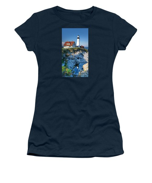 Portland Head Light Women's T-Shirt (Athletic Fit)