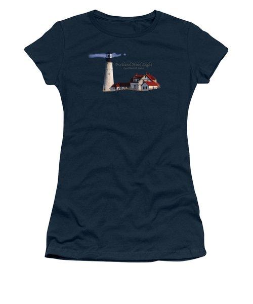Portland Head Light No. 43 Women's T-Shirt (Junior Cut) by Mark Myhaver