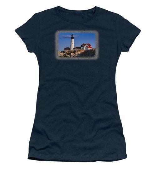 Portland Head Light No. 44 Women's T-Shirt (Junior Cut) by Mark Myhaver