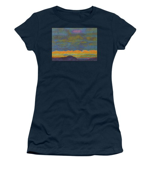 Women's T-Shirt featuring the painting Powder River Reverie, 1 by Cris Fulton