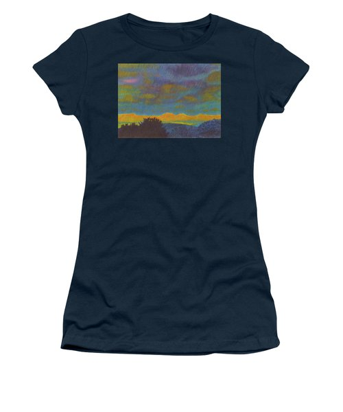 Women's T-Shirt featuring the painting Powder River Reverie, 2 by Cris Fulton