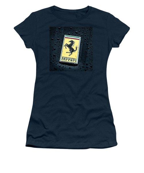 Women's T-Shirt (Junior Cut) featuring the digital art Prancing Stallion by Douglas Pittman