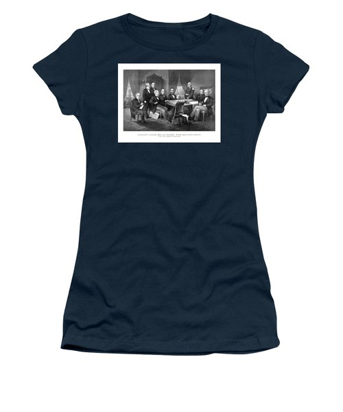 President Lincoln His Cabinet And General Scott Women's T-Shirt