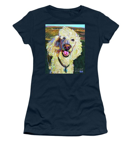 Princely Poodle Women's T-Shirt (Athletic Fit)