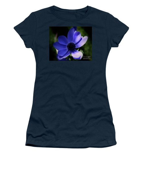 Women's T-Shirt (Junior Cut) featuring the photograph Purple Anemone by Stephen Melia
