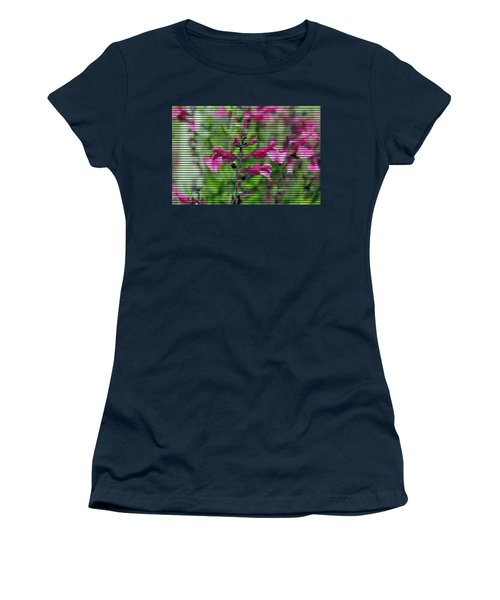 Purple Flower T-shirt Women's T-Shirt (Athletic Fit)