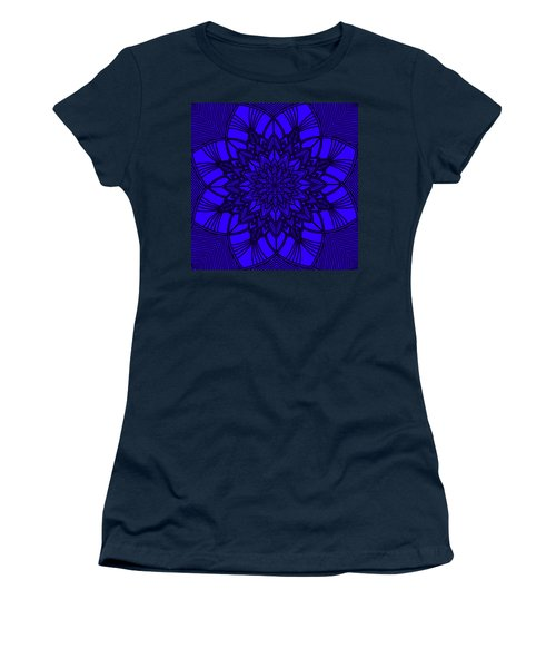 Women's T-Shirt (Athletic Fit) featuring the digital art Purple Spiritual by Lucia Sirna