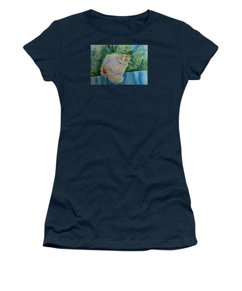 Puss Women's T-Shirt (Junior Cut) by Anna  Duyunova