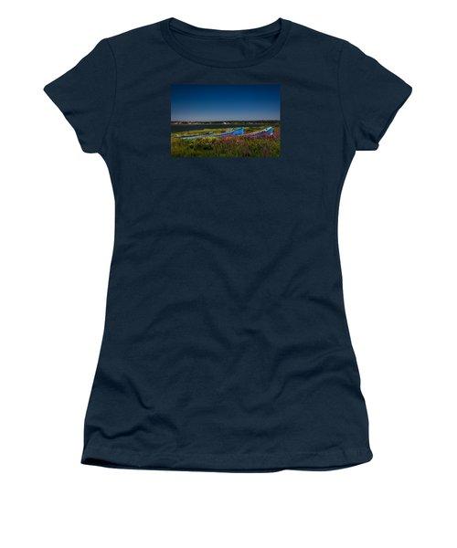 Put Out To Pature Women's T-Shirt (Junior Cut) by Peter Scott