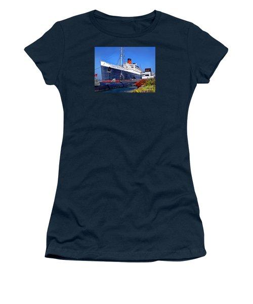 Queen Mary Ship Women's T-Shirt (Junior Cut) by Mariola Bitner