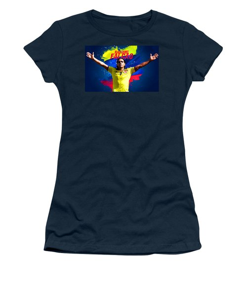 Radamel Falcao Women's T-Shirt (Junior Cut) by Semih Yurdabak