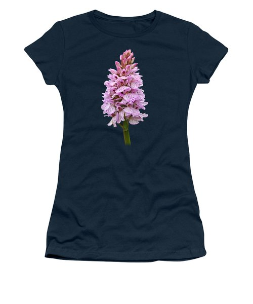 Radiant Wild Pink Spotted Orchid Women's T-Shirt (Junior Cut) by Gill Billington