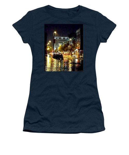 Rainy Night In Green Bay Women's T-Shirt (Junior Cut) by Lauren Radke