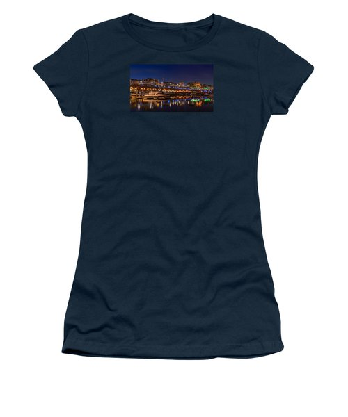 Ramsgate Marina At Night Women's T-Shirt (Athletic Fit)