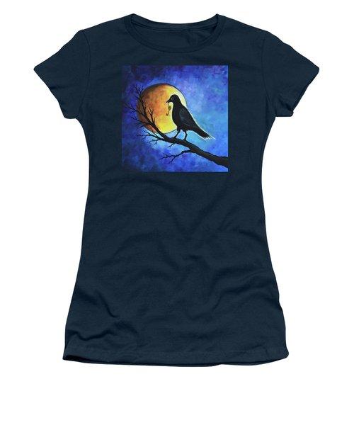 Raven With Key Women's T-Shirt (Junior Cut) by Agata Lindquist