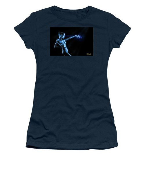 Women's T-Shirt (Athletic Fit) featuring the photograph Reaching Figure Darkness by Rikk Flohr